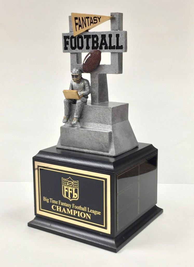 11 u0026quot  fantasy football computer jock trophy on base