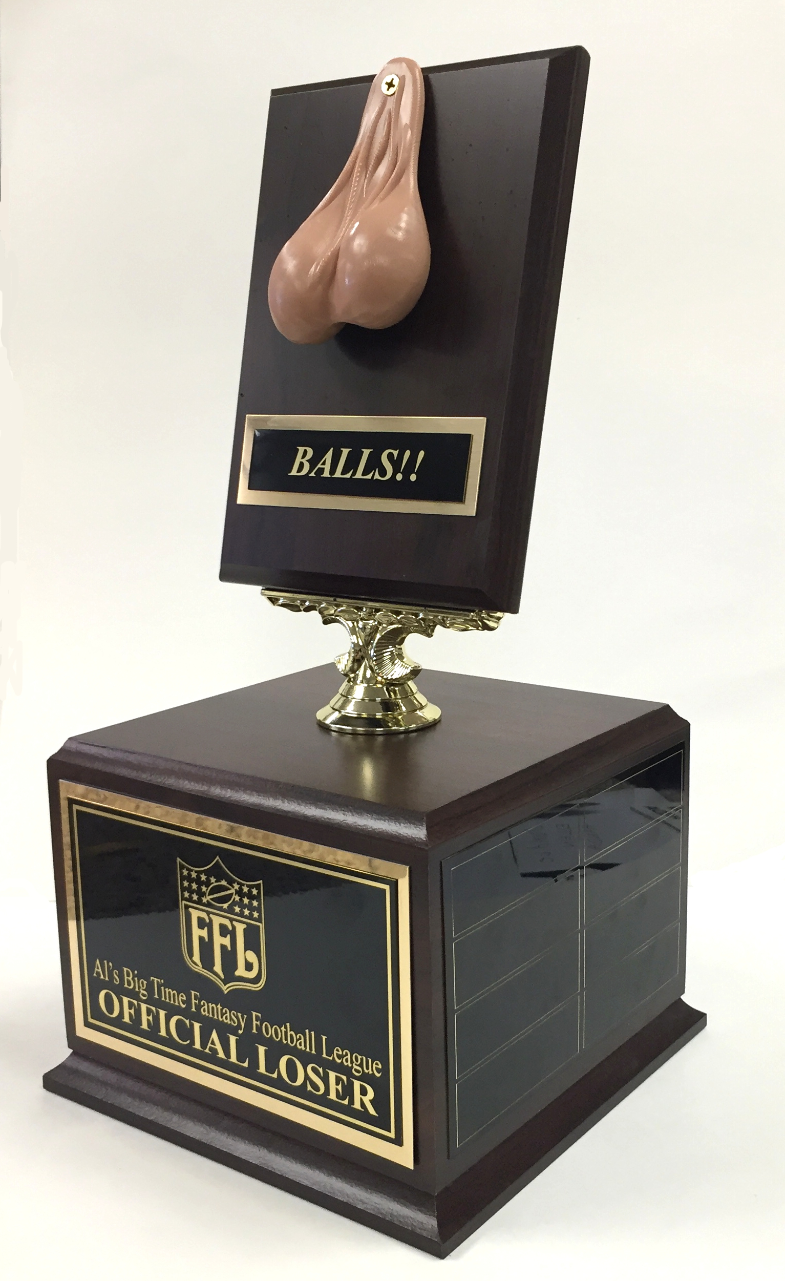 "14″ Tall ""Balls!"" Fantasy Football Loser Perpetual Trophy"