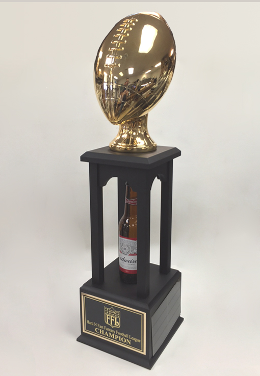 "27"" Inch Gold Football Fantasy Tower Trophy - Best ..."