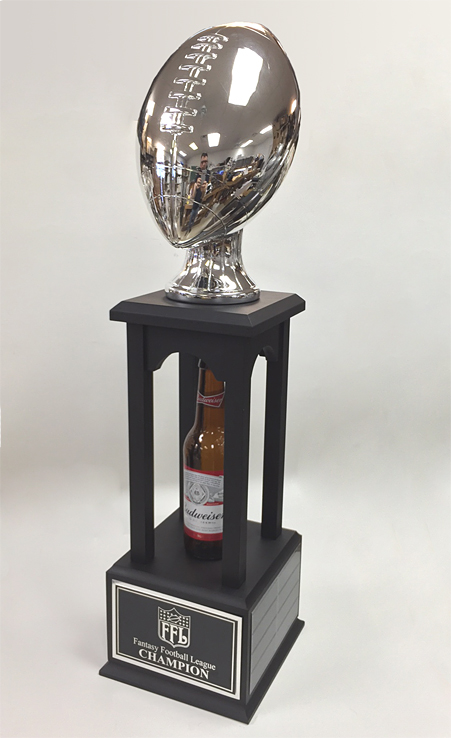 "27"" Inch Silver Football Fantasy Tower Trophy - Best ..."