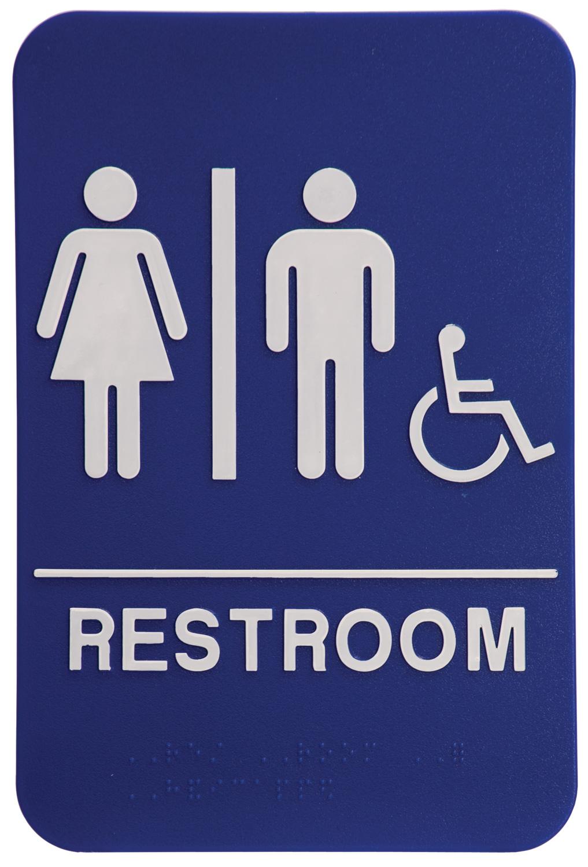 "Black ADA ""FAMILY RESTROOM"" Sign. 1/8"" Thick. Raised White ..."